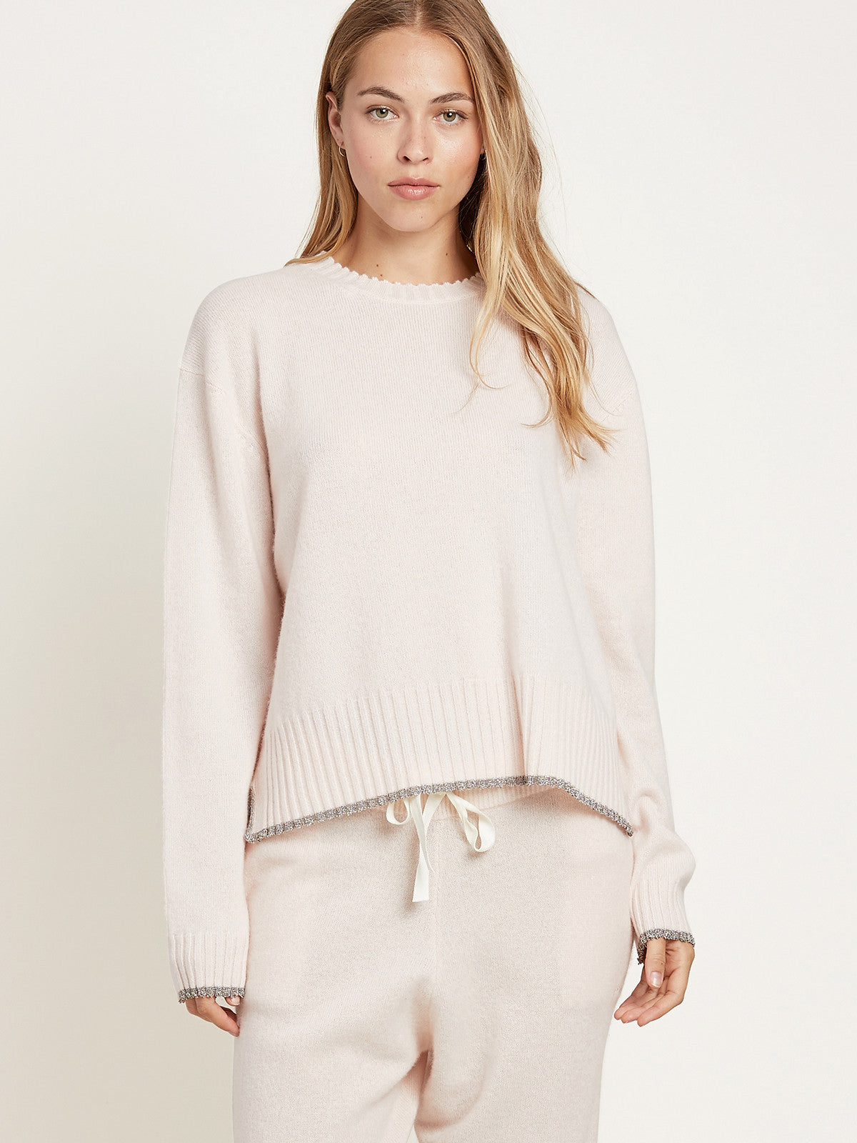 Charlee Sweater in Cashmere Vanilla By Morgan Lane