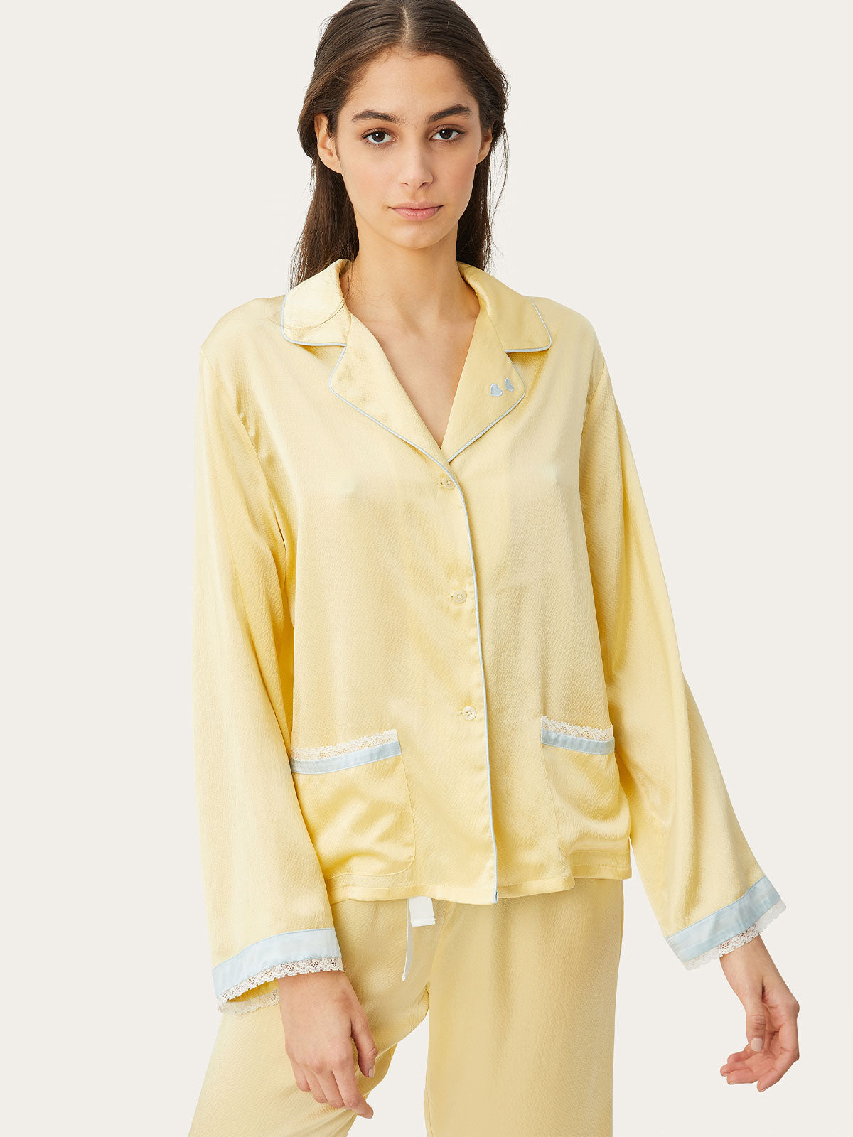 Jane Top in Custard By Morgan Lane