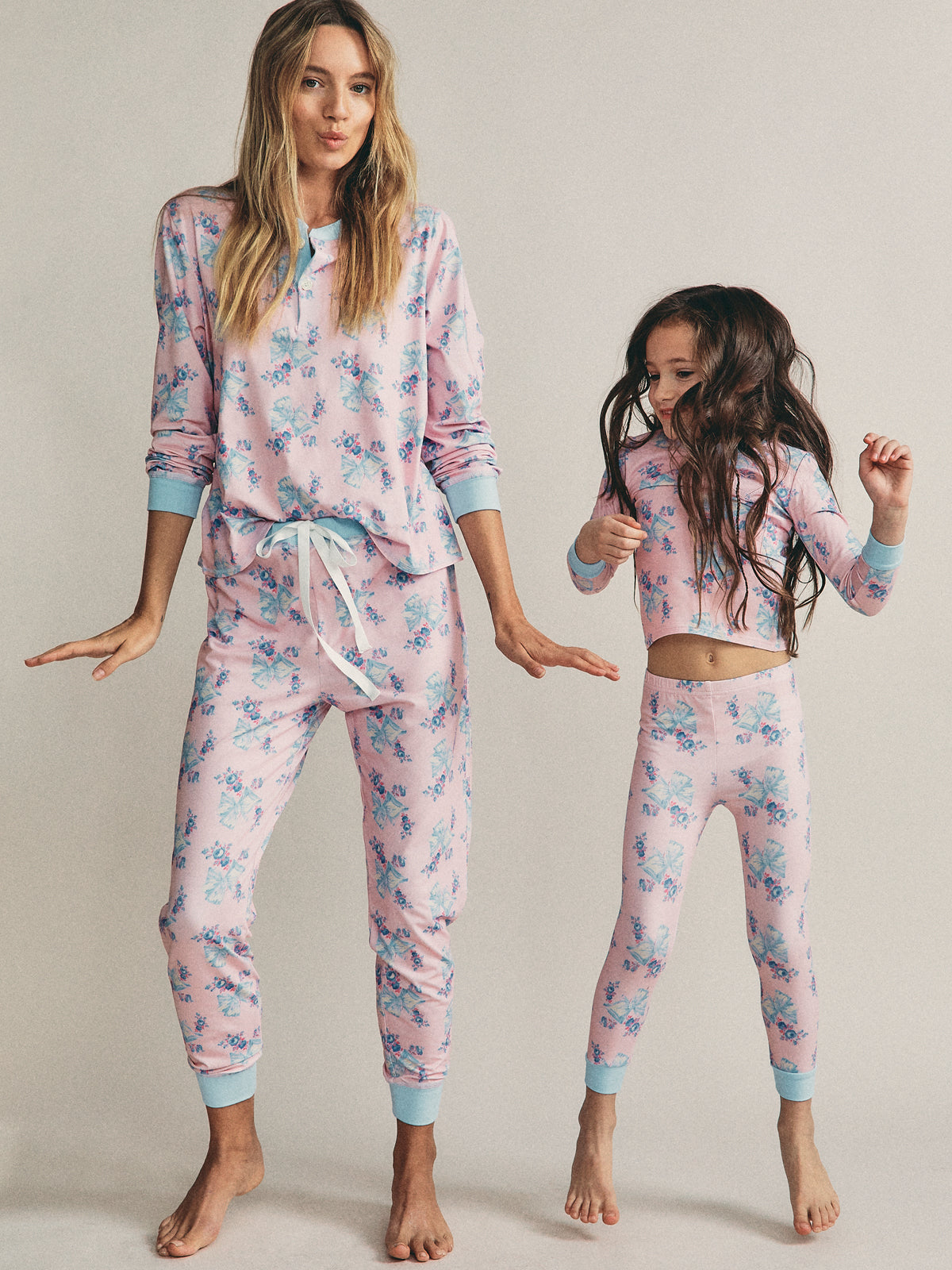 Lulu PJ Set in Candy Pink By Morgan Lane