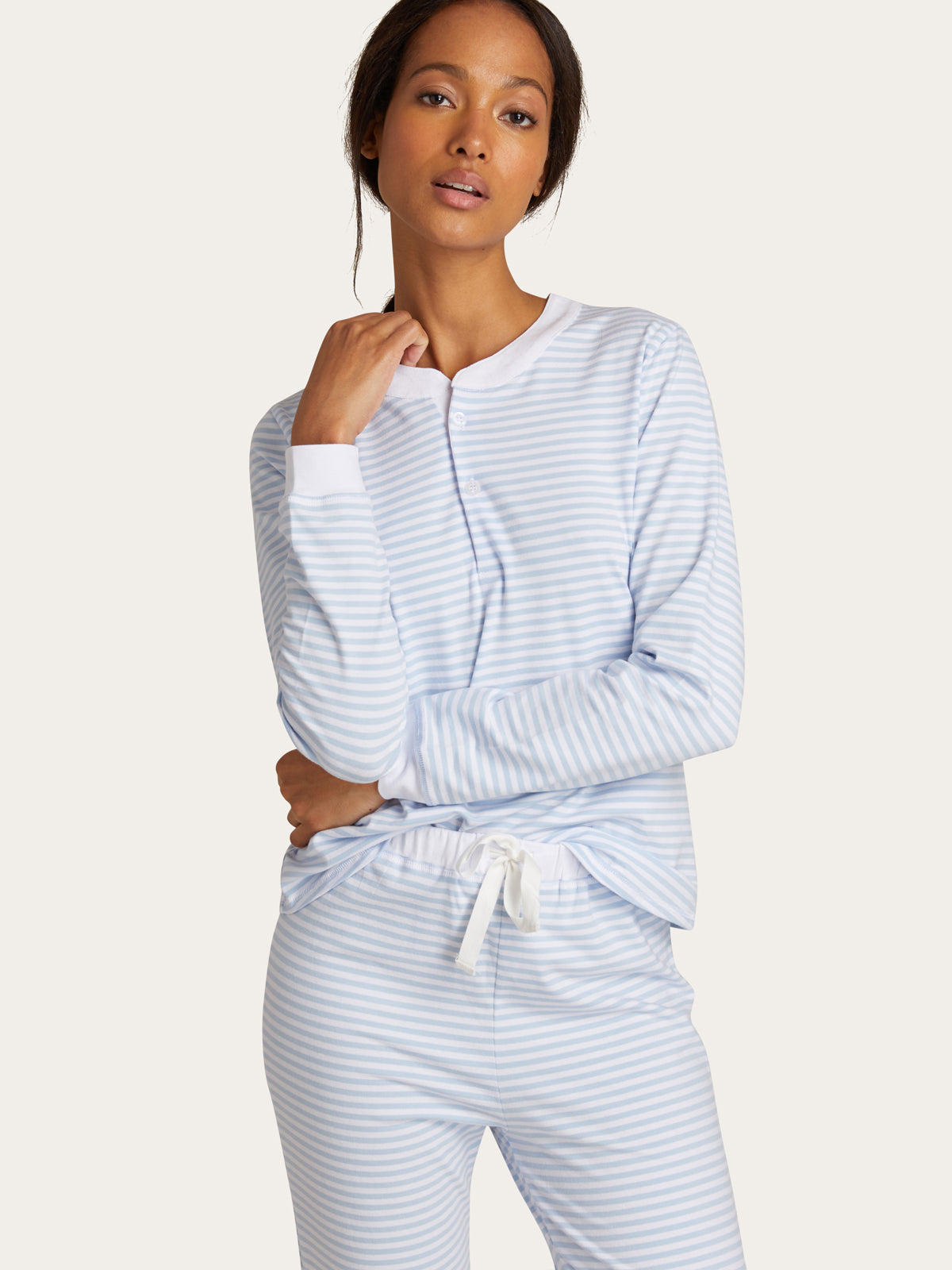 Kaia PJ Set in Sky Stripe By Morgan Lane