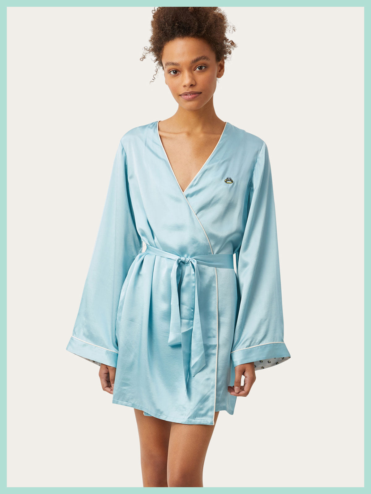 Langley Robe in Diamond Blue By Morgan Lane