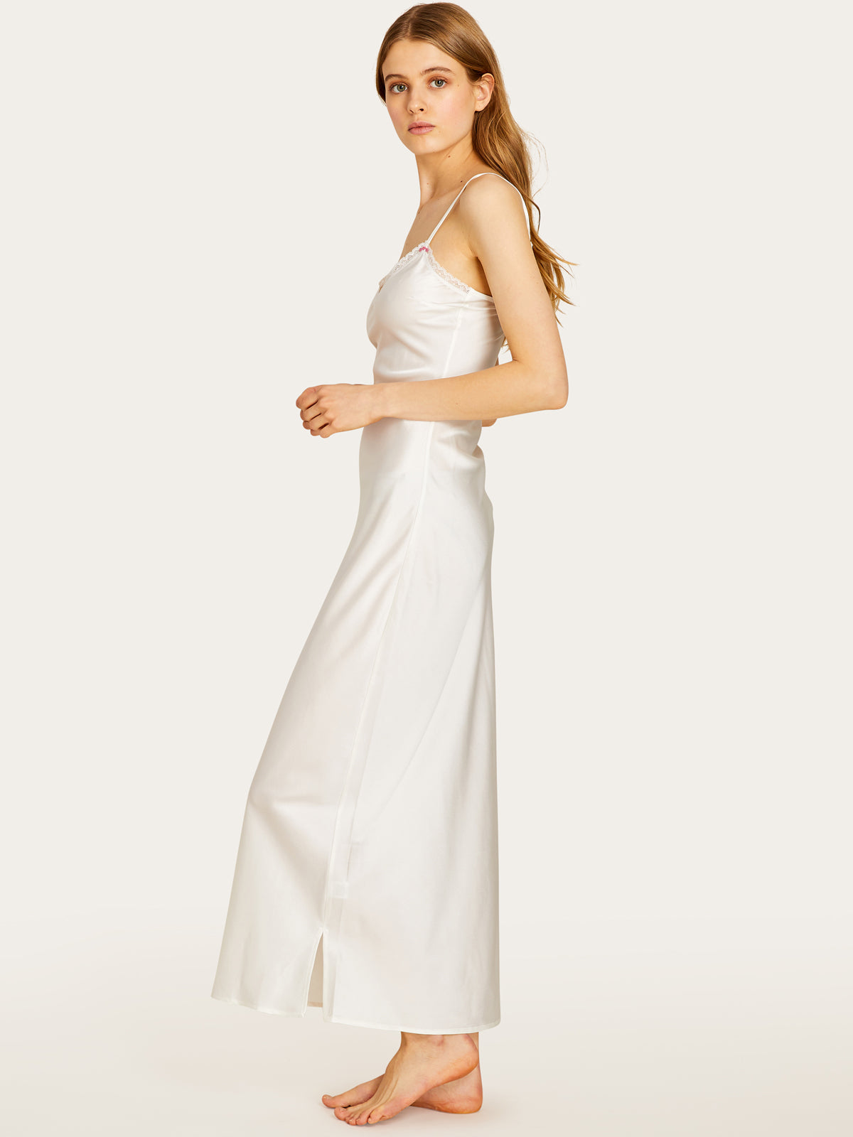Lexi Slip Dress in Chalk By Morgan Lane