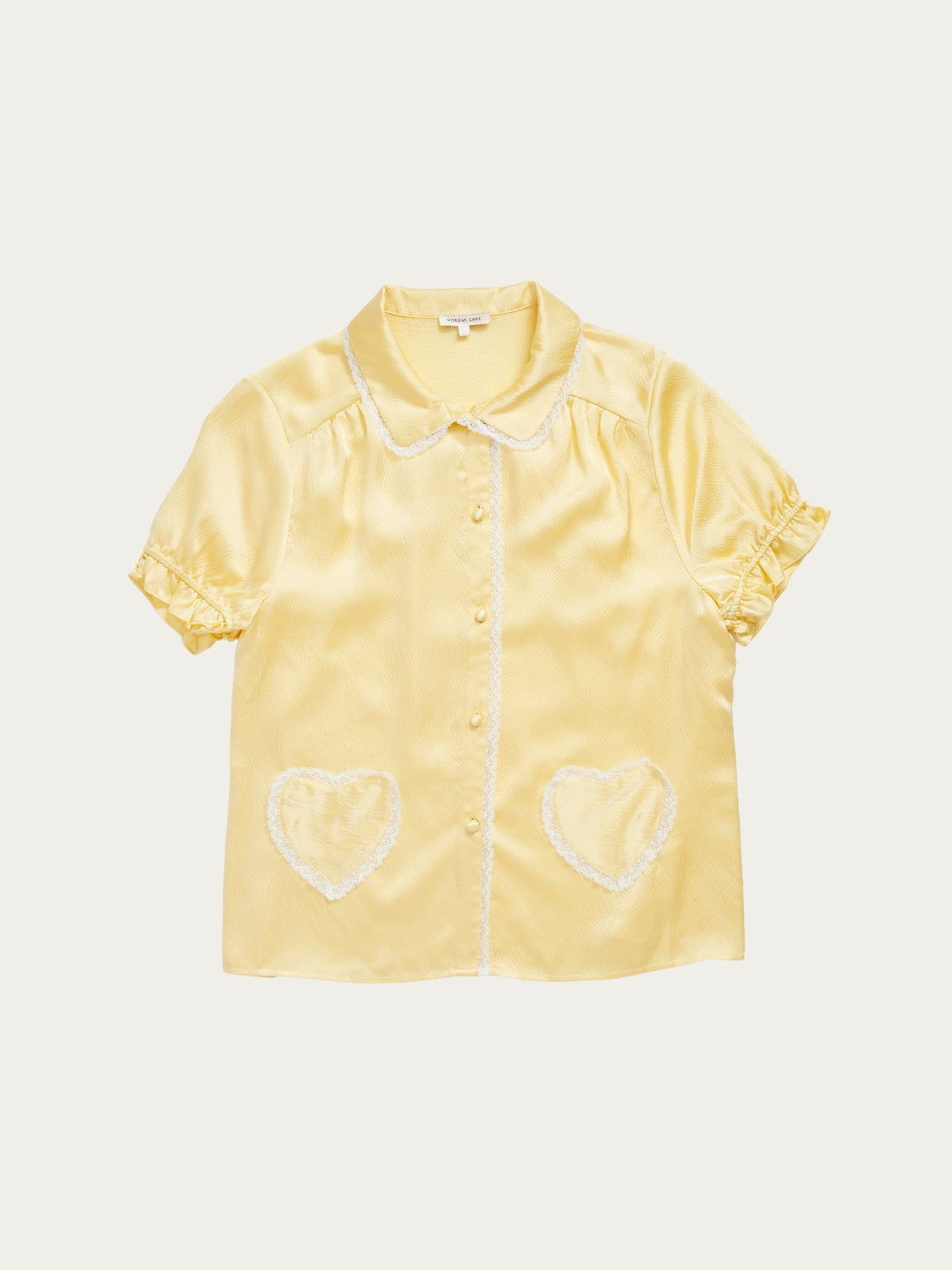 Lovie Top in Custard By Morgan Lane