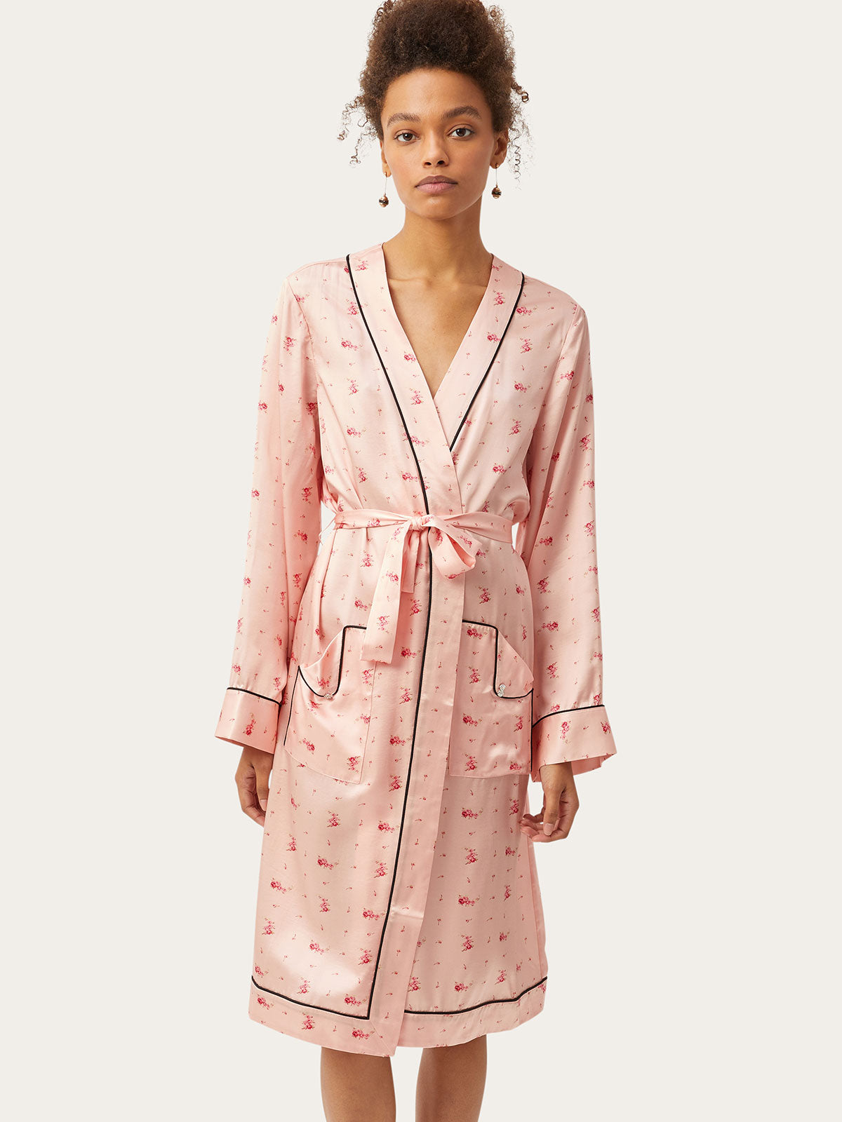 Ophelia Robe in Pale Blush By Morgan Lane