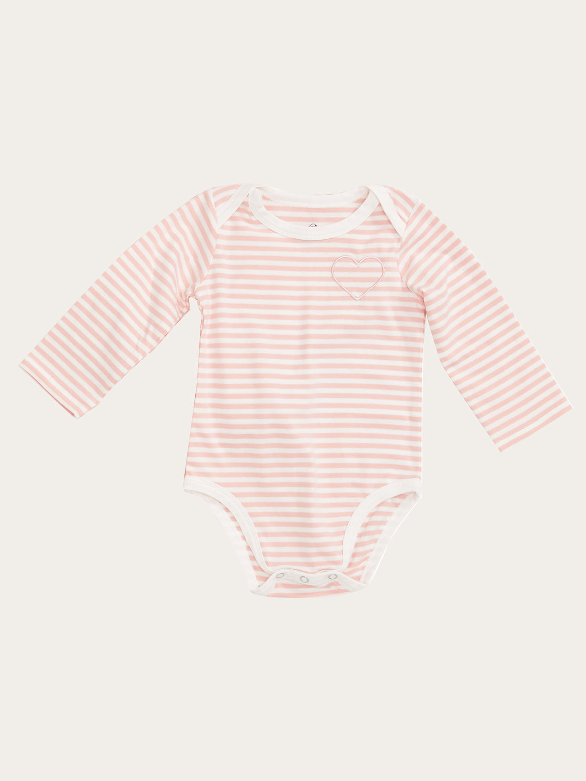 Roo Onesie in Rose Stripe By Morgan Lane