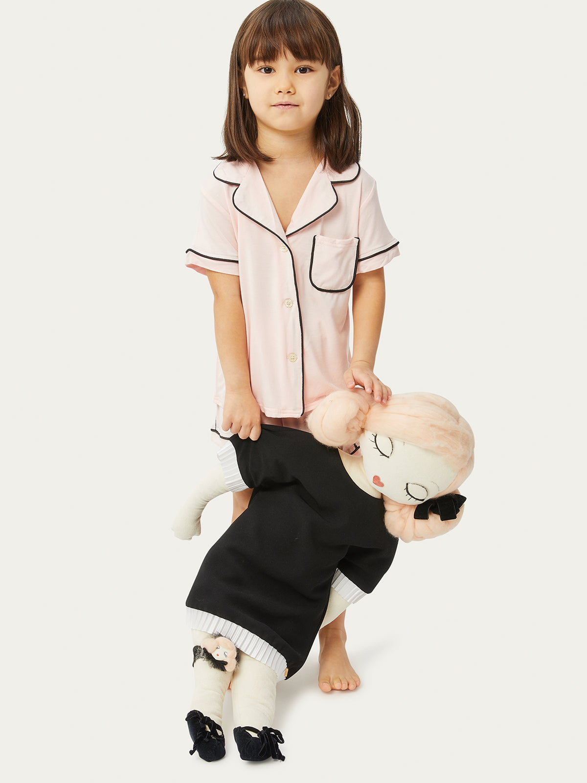 Rosie Kids PJ Set in Petal Noir By Morgan Lane