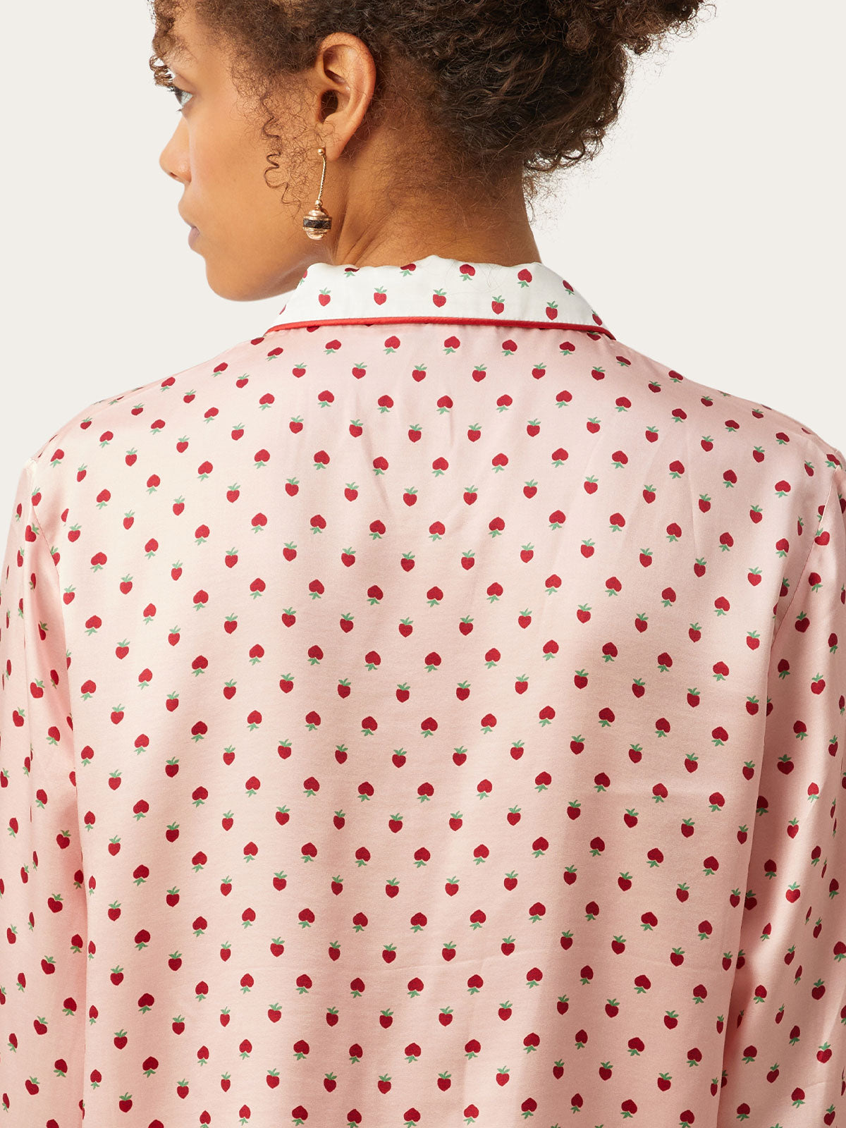 Ruthie Top in Strawberry Hearts By Morgan Lane