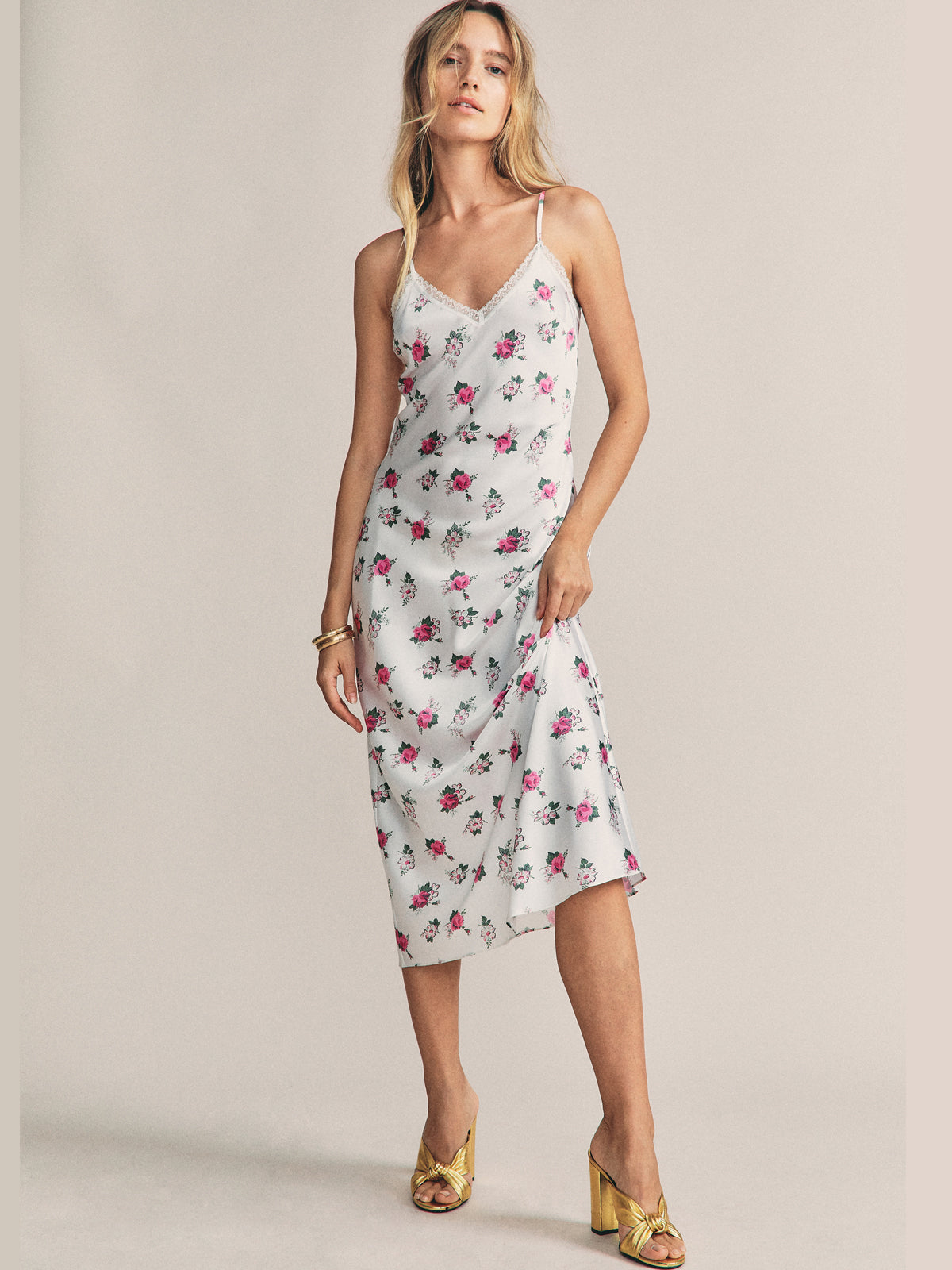 Stella Slip Dress in Pretty Baby By Morgan Lane