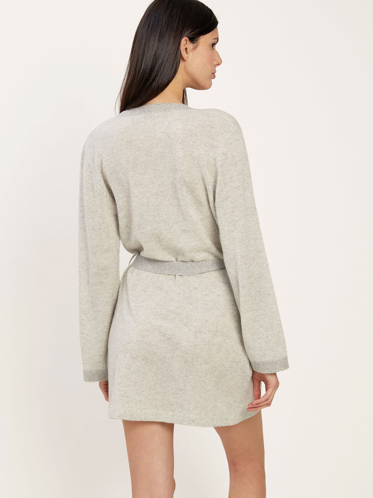 Bella Robe in Cashmere Pale Gray By Morgan Lane