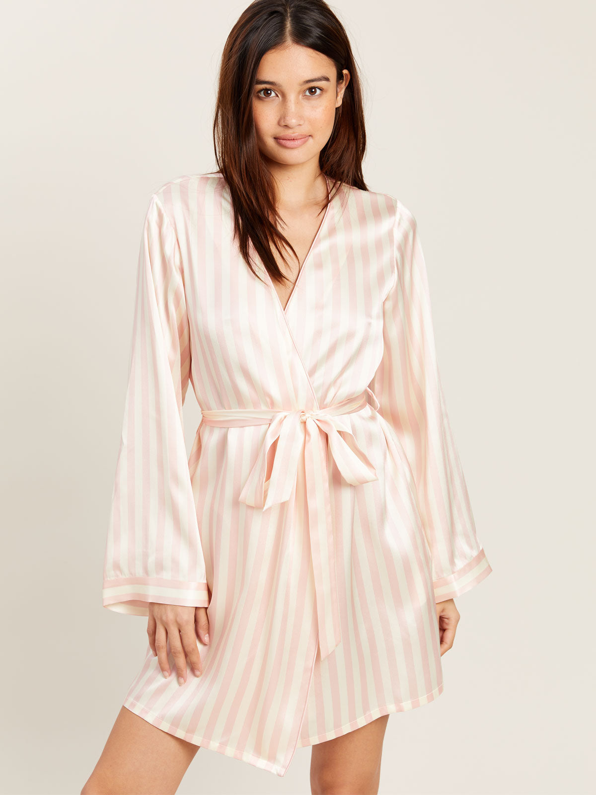 Langley Robe in Petal Stripe By Morgan Lane