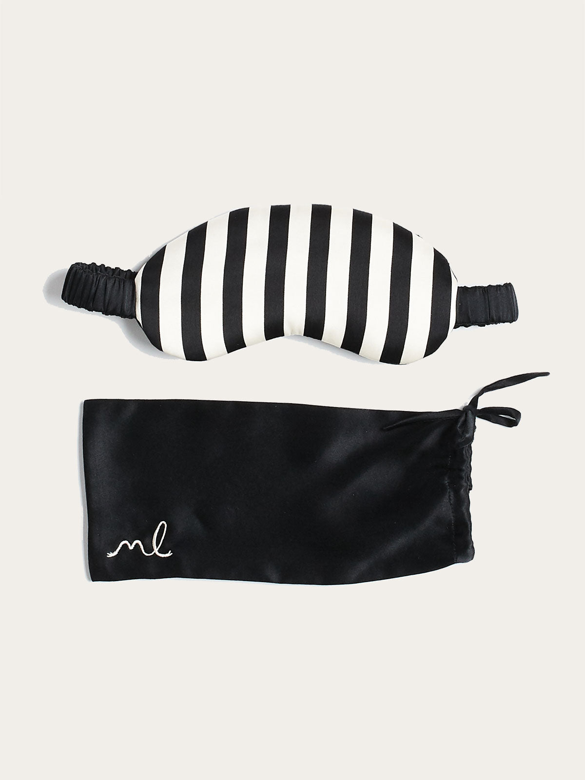 Noir Monogram Mask By Morgan Lane