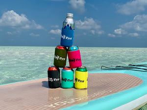 Bright Neoprene foldable Lazy Dog drink coozie