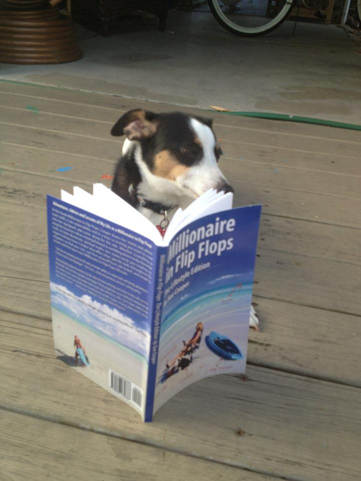 """Millionaire in Flip Flops"" lifestyle self-help book by Lazy Dog owner Sue Cooper"