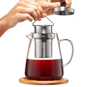 Glass Teapot Kettle with Infuser - Loose Leaf Tea Pot 32oz