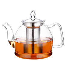 Load image into Gallery viewer, Hiware 1000ml Glass Teapot with Removable Infuser, Stovetop Safe Tea Kettle, Blooming and Loose Leaf Tea Maker Set