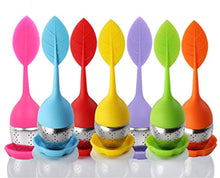 Load image into Gallery viewer, Bekith Tea Infuser - Set of 7 Silicone Handle Stainless Steel Strainer Drip Tray Included