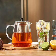 Load image into Gallery viewer, Glass Teapot Kettle with Infuser - Loose Leaf Tea Pot 32oz