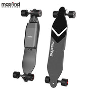Maxfind Super Long Range Dual Motor Remote Bluetooth Max4 Electric Skateboard With Two Extended Battery's-Pro eRiders