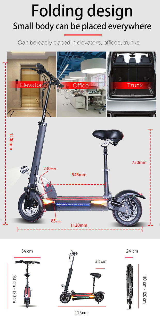 48v500w x48 Electric Scooter with Seat-Pro eRiders