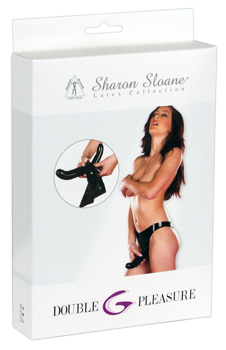 Sharon Sloane Latex double dong brief.
