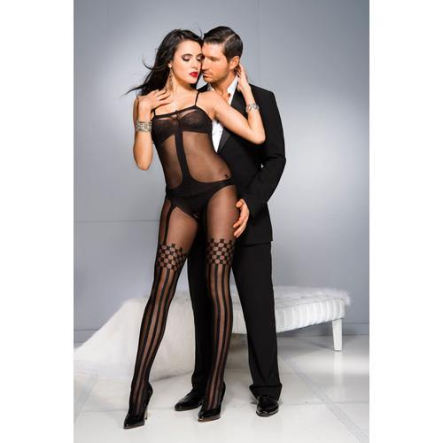 Music Legs Crotchless Bodystocking With Stockings Design - Lovematic.ie