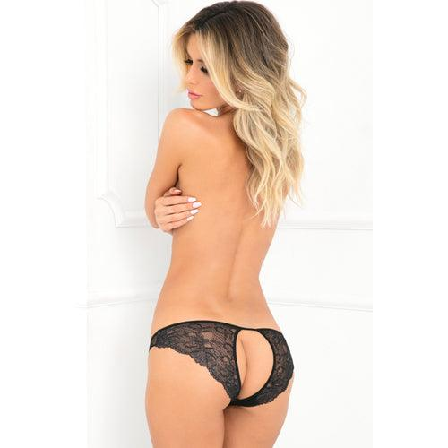 Rene Rofe Lace Panties With Open Back