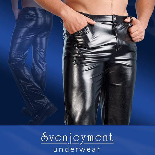Svenjoyment Underwear Imitation Leather Pants Men.