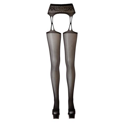 Cottelli Collection Suspender Belt + Stockings.
