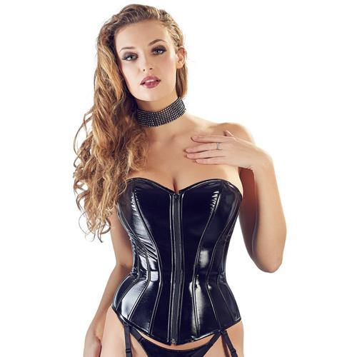 Black Level PVC Corset With Suspenders.