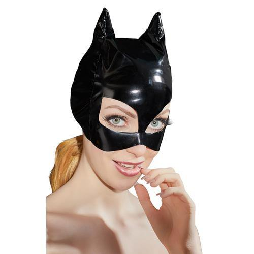 Black Level Vinyl Mask With Cat Ears - Lovematic.ie