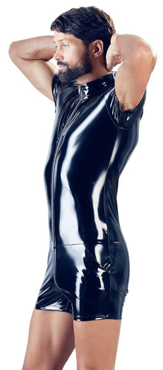 Black Level PVC Jumpsuit.