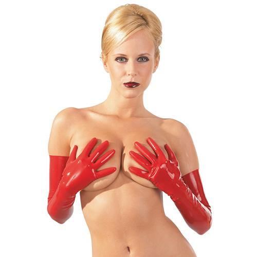 The Latex Collection Latex Gloves red - Lovematic.ie