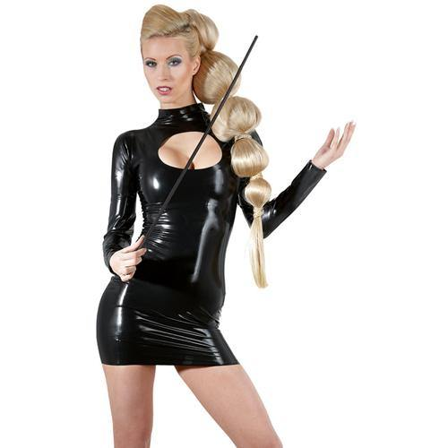 The Latex Collection Latex Dress hole.