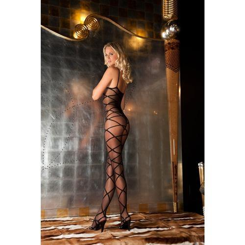 Rene Rofe Strapped up sheer bodystocking - Lovematic.ie