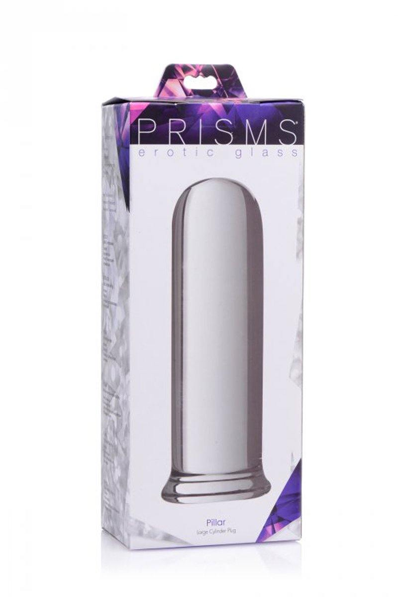 Prisms Erotic Glass Pillar Large Cylinder Plug.