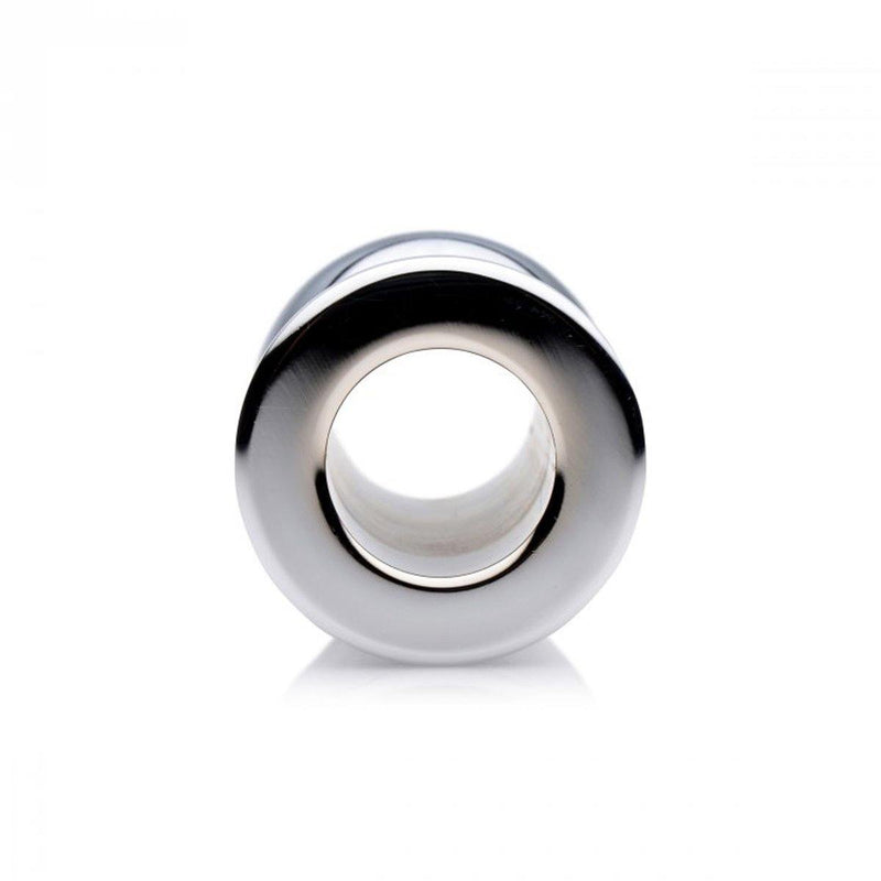 Master Series Medium Abyss - Steel Hollow Anal Plug.