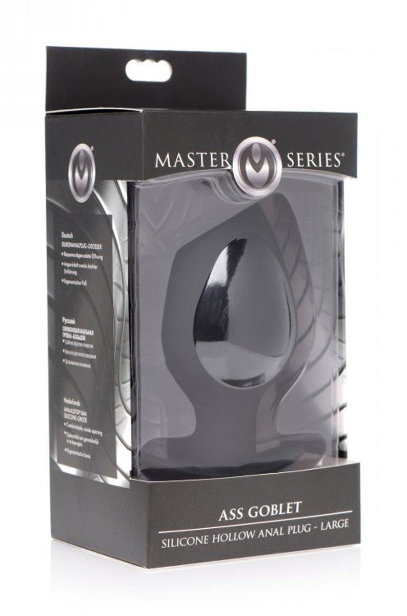 Master Series Ass Goblet Hollow Anal Plug.