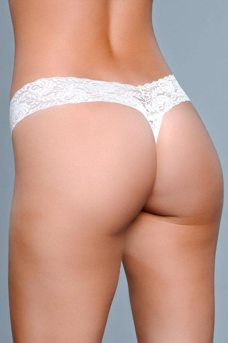 Be Wicked V-Cut Lace Panties - White.