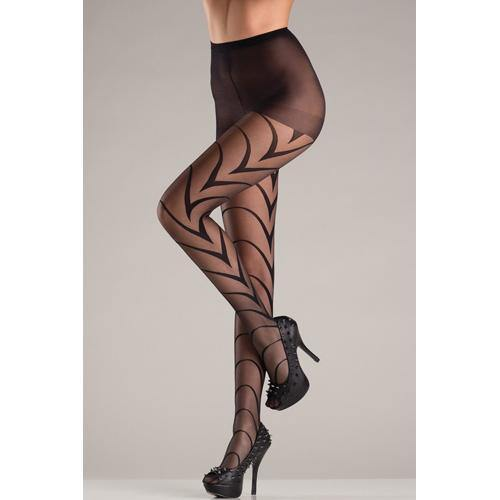 Be Wicked Pantyhose with V-shaped lines - Lovematic.ie