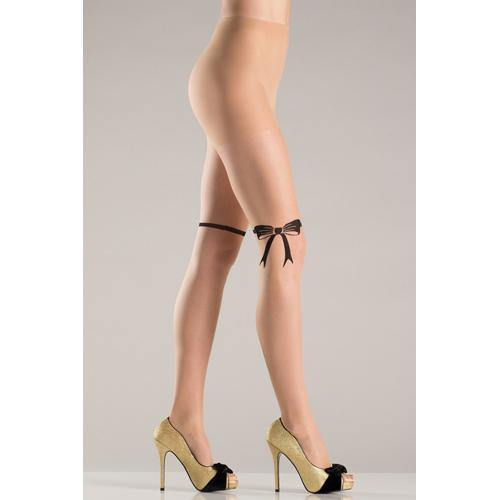 Be Wicked Pantyhose With Ribbon And Bow Design.