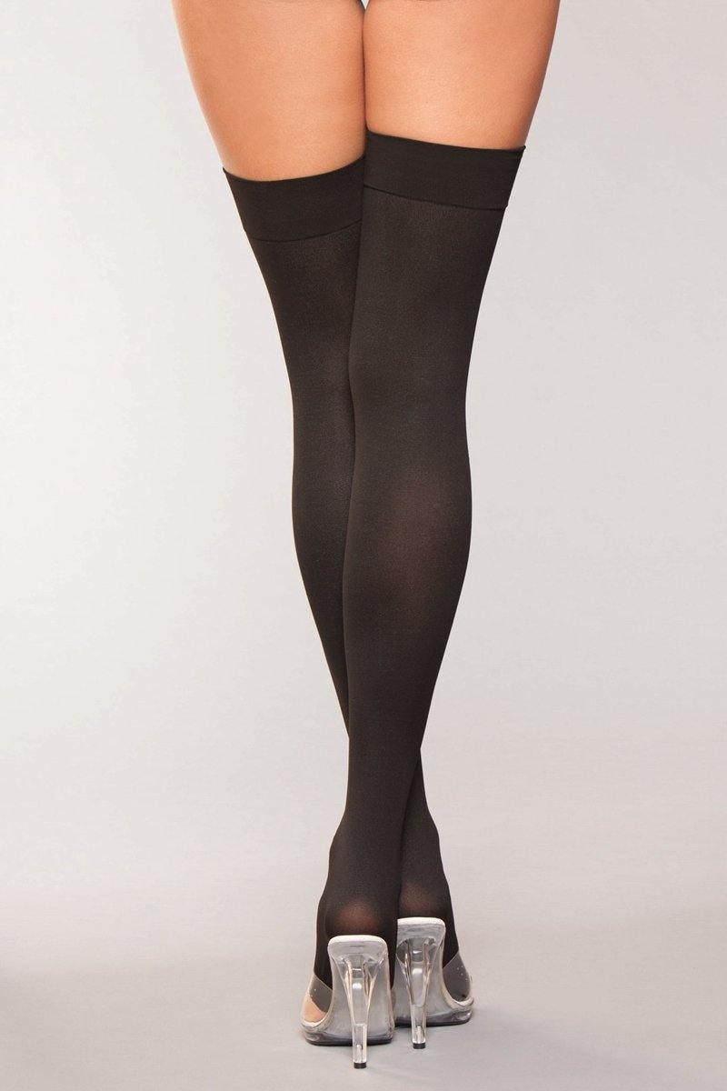 Be Wicked Hold Ups With Bow And Lace Up Print.