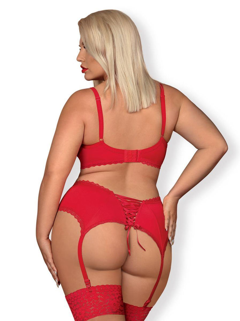 Obsessive Jolierose 3-Piece Set - Red - Lovematic.ie