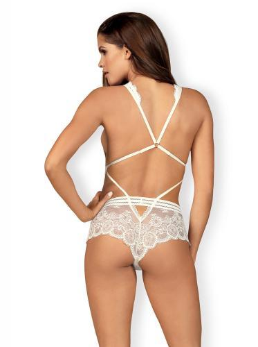 Obsessive Lace Teddy - White - Lovematic.ie