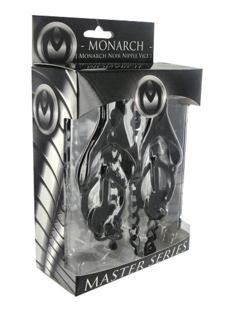 Master Series Monarch Noir Nipple Vice - Lovematic.ie