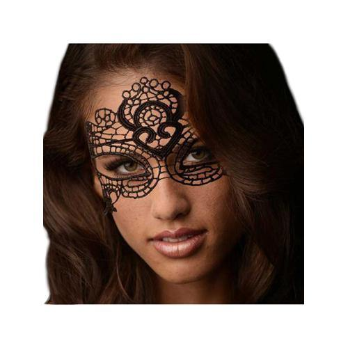 Frisky The Enchanted Black Lace Mask.