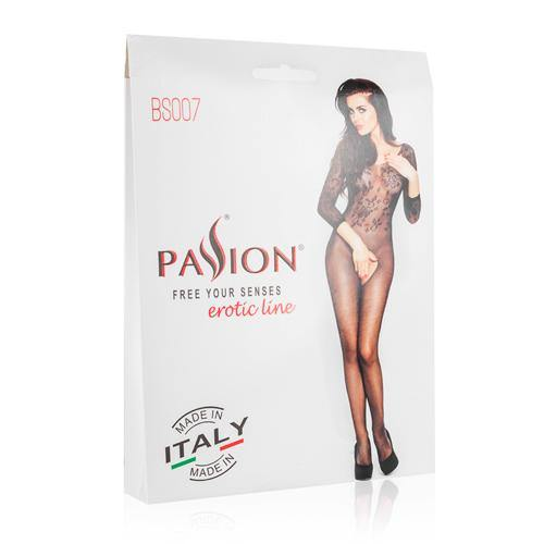 Passion Black Net Catsuit With Open Crotch - Lovematic.ie