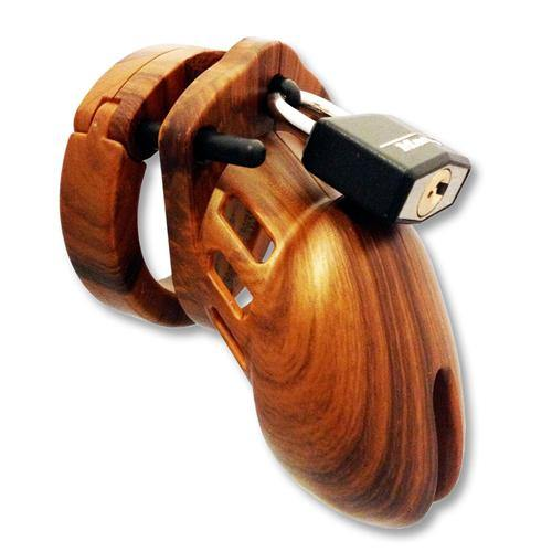CB-X Chastity Cage Wood Look - Lovematic.ie