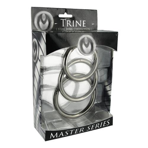 Master Series Trine Steel Ring Collection - Lovematic.ie
