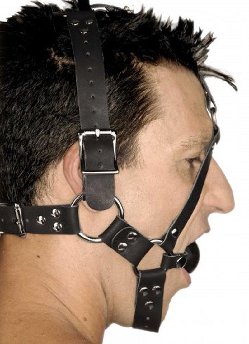 Strict Leather Leather Ball Gag Harness.