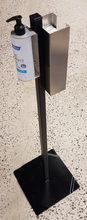 Load image into Gallery viewer, Black Powder-Coated Configurable Hand Sanitizer Stand